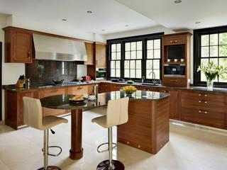 Grosvenor | Luxury American Walnut Kitchen Davonport ห้องครัว ไม้ Wood effect