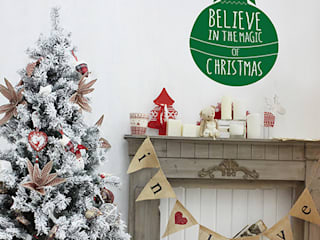 Christmas wall sticker decorations Vinyl Impression 壁&床壁の装飾 緑