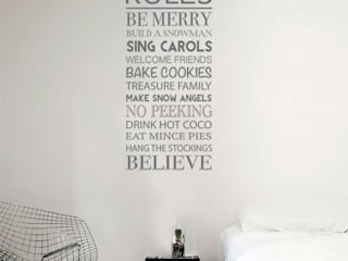 Christmas wall sticker decorations Vinyl Impression 壁&床壁の装飾 灰色