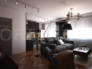 Квартира, Высоковольтный: Гостиная в . Автор – Loft&Home