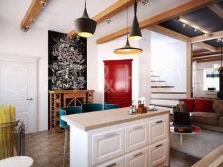 УЮТНЫЙ ЛОФТ: таунхаус, Кембридж: Кухни в . Автор – Loft&Home