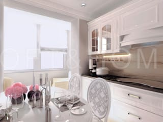 Квартира, 108м2: Кухни в . Автор – Loft&Home