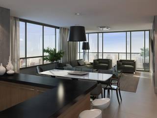 UPTOWN 161 André Petracco Arquitetura Salas de estar modernas