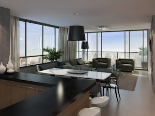 André Petracco Arquitetura 现代客厅設計點子、靈感 & 圖片