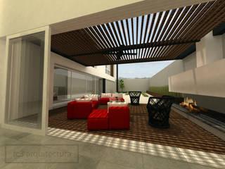 Patio: Terrazas de estilo  por fc3arquitectura