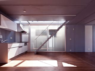 Modern style kitchen by AIRアーキテクツ建築設計事務所 Modern
