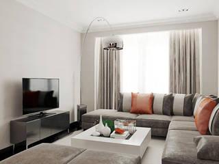 Квартира в Ольшанке: Гостиная в . Автор – Студия интерьера МЕСТО