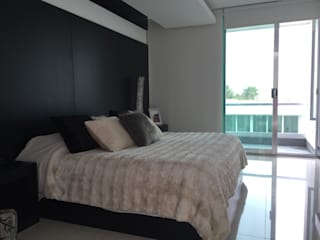 Bedroom by ARKIZA ARQUITECTOS by Arq. Jacqueline Zago Hurtado   , Minimalist