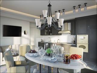 Дизайн квартиры в Дагомысе: Столовые комнаты в . Автор – Студия Архитектуры и Дизайна Алисы Бароновой