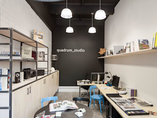 Industrial style office buildings by QUADRUM STUDIO Industrial
