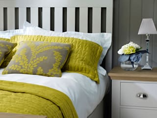 Annecy Hand Painted Imperial Bed and 2 Drawer Bedside Cabinet:   by Corndell Quality Furniture