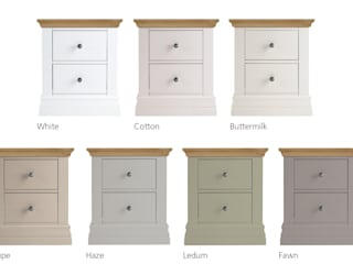 Annecy Hand Painted Bedside Chest:   by Corndell Quality Furniture