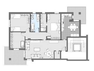 Restyling di appartamento a Piacenza: Case in stile in stile Moderno di Annalisa Tinelli Architetto