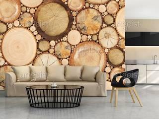 Carte da parati effetto legno BIMAGO.it SoggiornoAccessori & Decorazioni Legno Marrone