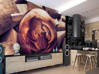 Carte da parati effetto pietra BIMAGO.it Sala da pranzoAccessori & Decorazioni Pietra Beige