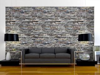 Carte da parati effetto pietra BIMAGO.it SoggiornoAccessori & Decorazioni Pietra Grigio