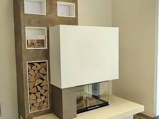 Kamine:  Wohnzimmer von Schrage Kaminbau GmbH