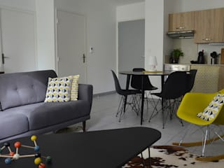 Appartement Vintage à Morancé (69) Salon scandinave par Florian PRESLE Scandinave