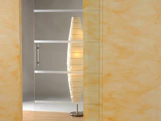 Glasschiebetüren schoener-bauen24.de Moderne Wohnzimmer Glas