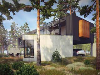 Z3Z ARCHITEKCI Minimalist houses Wood