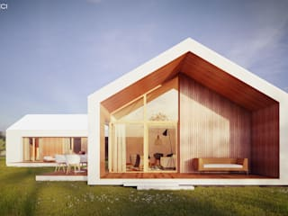 Z3Z ARCHITEKCI Minimalist houses Wood