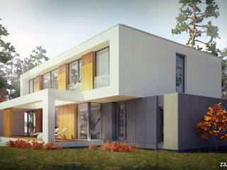 Z3Z ARCHITEKCI Modern houses Wood