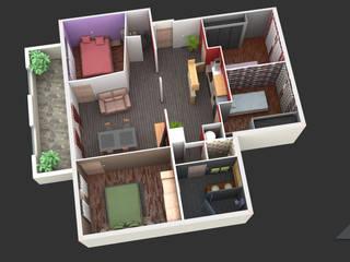 Plan 3D Intéractif - Appartement t4 par Archi-Prev