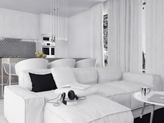 Salas de estar modernas por FOORMA Pracownia Architektury Wnętrz Moderno