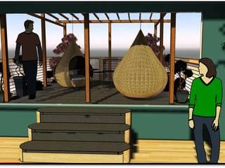Projet de terrasse surélevée par JC Créations d'intérieurs