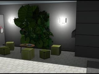 Aménagement salle d'attente entreprise par JC Créations d'intérieurs