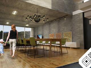 Casa XY: Salas de jantar  por Julio Ferreira Arquitetura,