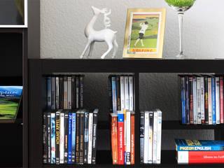Regaleinsatz für Kallax Regal zur Aufbewahrung von DVDs und Blue Ray Discs von NSD New Swedish Design GmbH Skandinavisch Holzspanplatte
