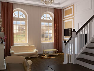 Дизайн студия Александра Скирды ВЕРСАЛЬПРОЕКТ Classic style living room