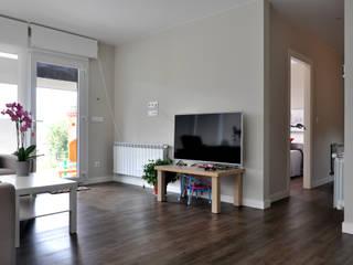 Casa prefabricada Cube 75 m2 - Salón Livings modernos: Ideas, imágenes y decoración de Casas Cube Moderno