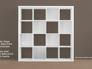 Optische Aufwertung dank BAKLUCKA Rückwand von NSD New Swedish Design GmbH Skandinavisch Holzspanplatte