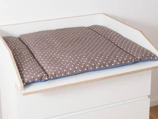 VÄXLA Wickelaufsatz mit Auflage für Malm Kommode von NSD New Swedish Design GmbH Skandinavisch Sperrholz