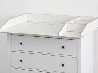 Wickelaufsatz VÄXLA F als Sonderausführung für Hemnes Kommode von NSD New Swedish Design GmbH Skandinavisch Sperrholz