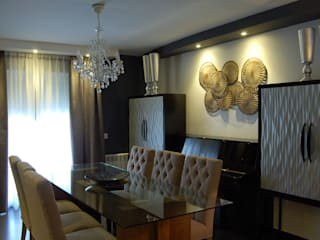 Vivienda en Getafe, Madrid Comedores de estilo ecléctico de FrAncisco SilvÁn - Arquitectura de Interior Ecléctico