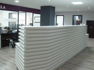 """Oficinas """"Gos S.A."""" Oficinas y tiendas de estilo moderno de FrAncisco SilvÁn - Arquitectura de Interior Moderno"""