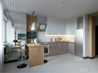 "Квартира - студия ""White bricks"": Кухни в . Автор – 2GO Design Studio"