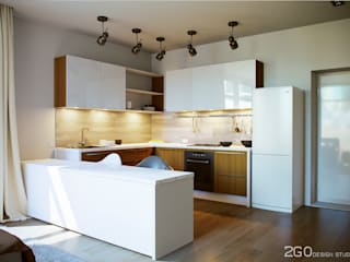 Dapur oleh 2GO Design Studio, Modern