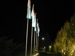 Beleuchtung der Außenanlagen der Hauptverwaltung BHW in Hameln Ausgefallene Häuser von SSP SCHMITZ SCHIMINSKI Parter GbR - Planung für Raum - Licht - Design Ausgefallen