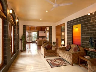 Residence Sangeeta Asian style corridor, hallway & stairs by Kumar Consultants Asian