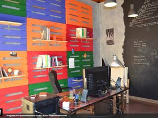 Oficinas y bibliotecas de estilo industrial de Produzioni Proietto Industrial