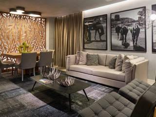 Decora Líder Brasília - Morada da Família Tignaello Salas de estar modernas por Lider Interiores Moderno