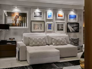 Decora Líder Brasília - Flat Moderno Salas de estar modernas por Lider Interiores Moderno