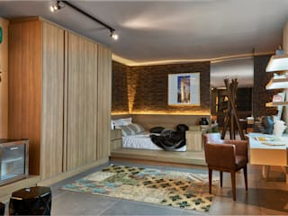 Decora Líder Brasília - Loft Soho Salas de estar modernas por Lider Interiores Moderno