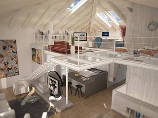 House C: Studio in stile in stile Moderno di Ivan Rivoltella