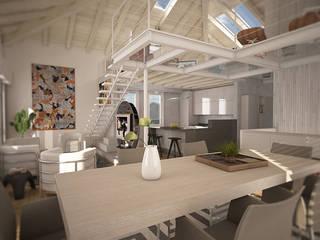 House C: Soggiorno in stile in stile Moderno di Ivan Rivoltella