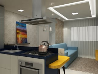 Apartamento Eduardo e Fernanda:   por Estúdio Criativo Arquitetura e Interiores,Moderno
